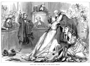 A scene from Gilbert & Sullivan's Trial by Jury.