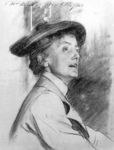 Dame Ethel Smyth, a famous turn-of-the-century suffragist and opera composer. Sketch by John Singer Sargent.